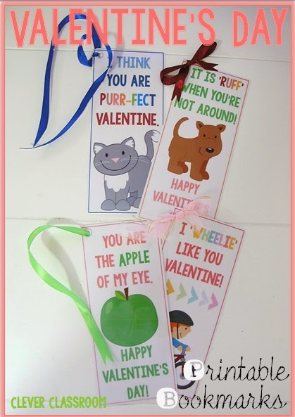 free valentines day bookmarks for kids
