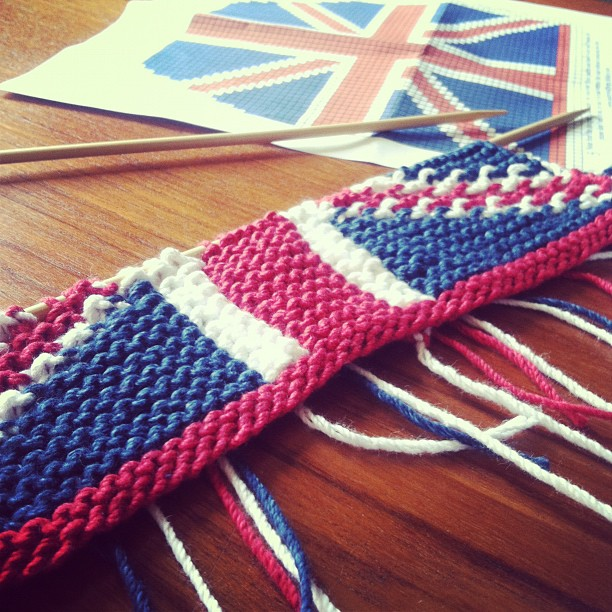 Knitting Pattern For Union Jack : anna knits, etc.: anna knits - union jack tea cosy update 1