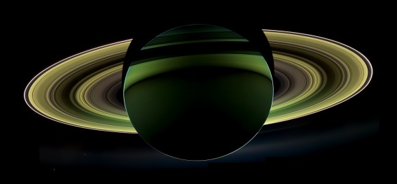Saturn in the dark
