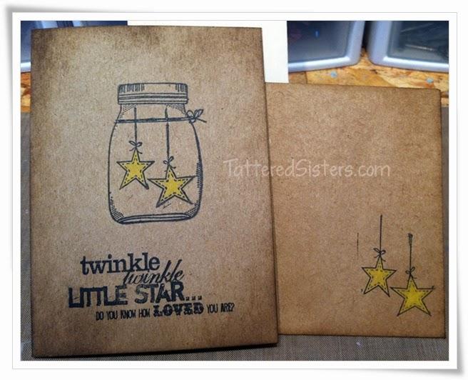 Twinkle Twinkle Mason Jar Primitive Card