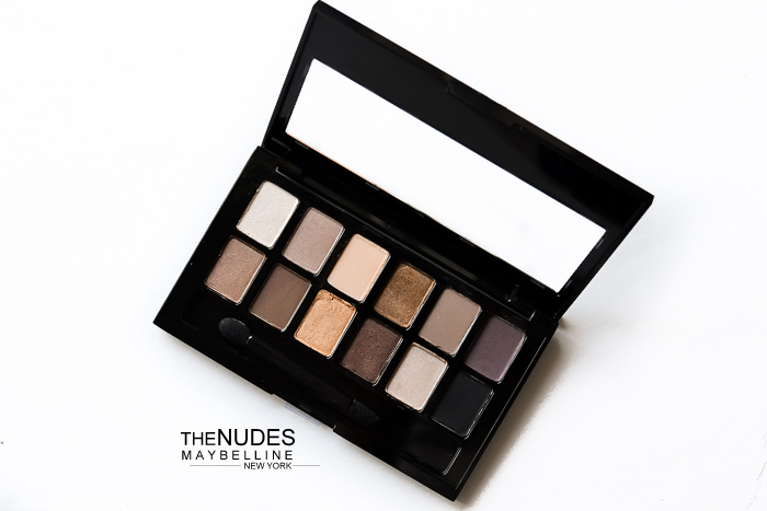 Maybelline The Nudes - Neutral Eyeshadow Palette - Review Swatches Photos Makeup Looks
