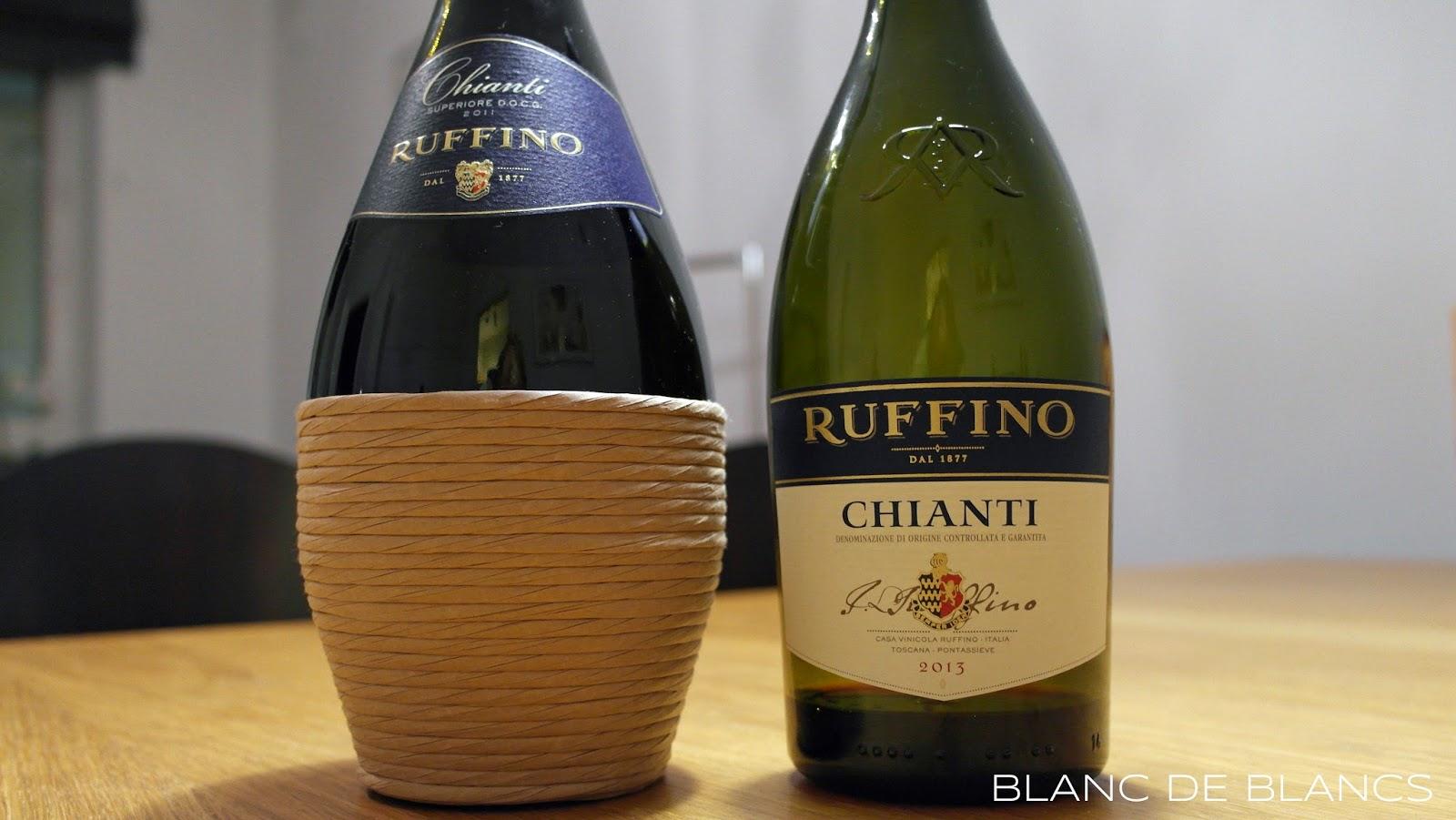 Ruffino Chianti 2013 ja Ruffino Chianti Superiore 2011 - www.blancdeblancs.fi
