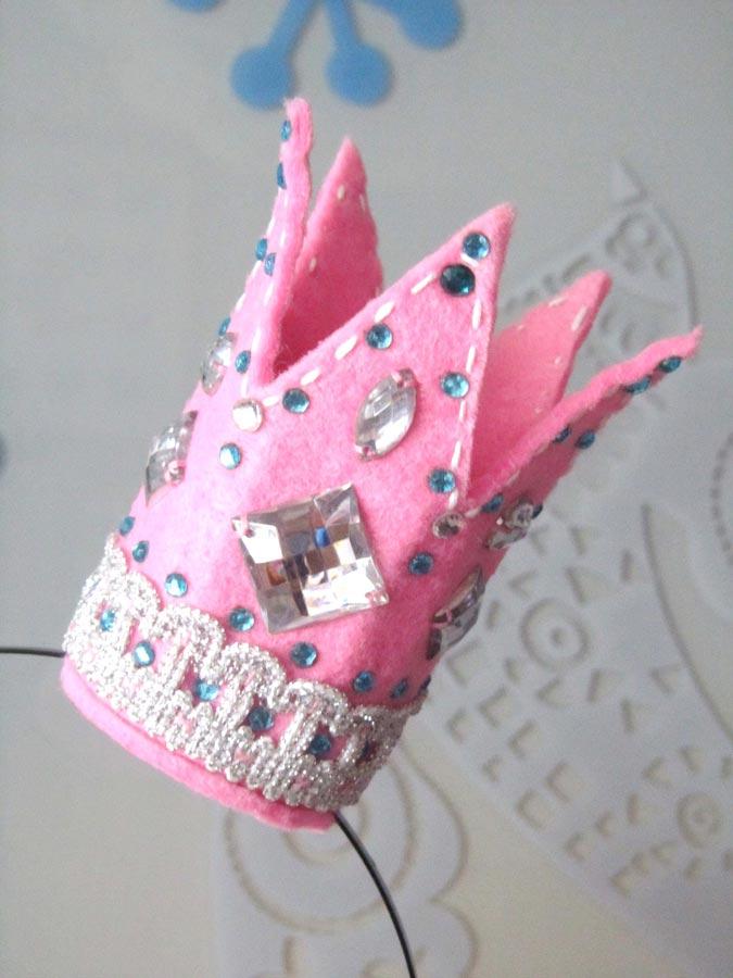 Короны для девочек из фетра своими руками 96