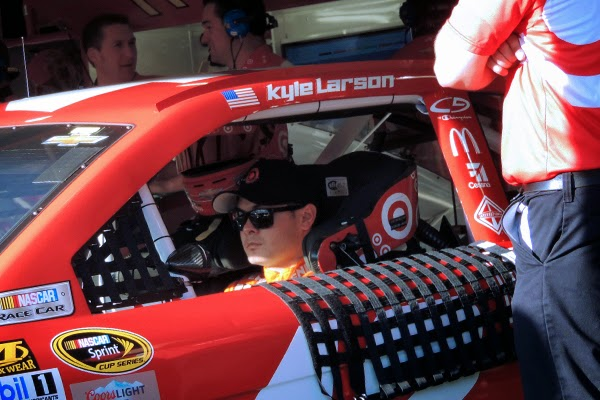 New Dad, Kyle Larson Prepares For Practice