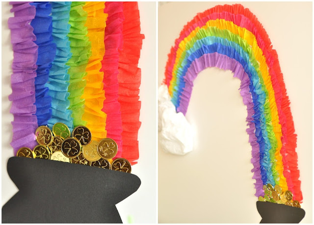St Patrick's Day Rainbow Inspired Party DIY Decorations