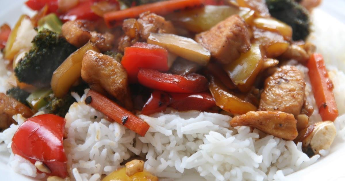 ... Wok mit Honig und Cashew-Nüssen oder Sriracha Honey Cashew Chicken