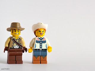 lego cowboy and cowgirl
