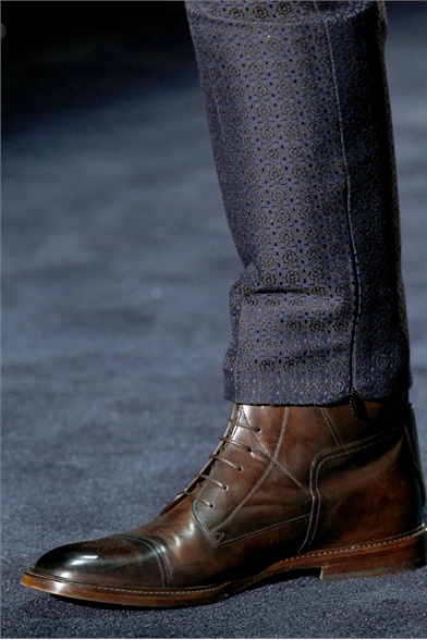 Calzature Gucci FW 2013 - Stivaletti in pelle lucida brown