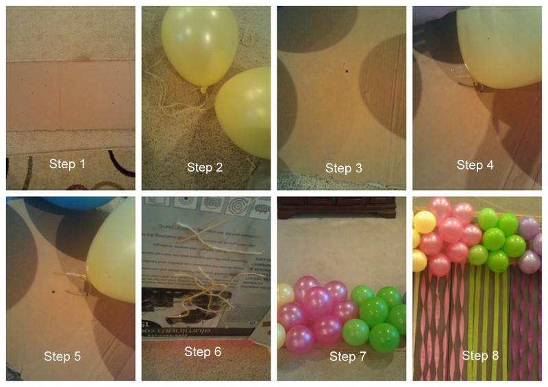 Recipes from stephanie balloon cluster decoration with for Balloon decoration how to make