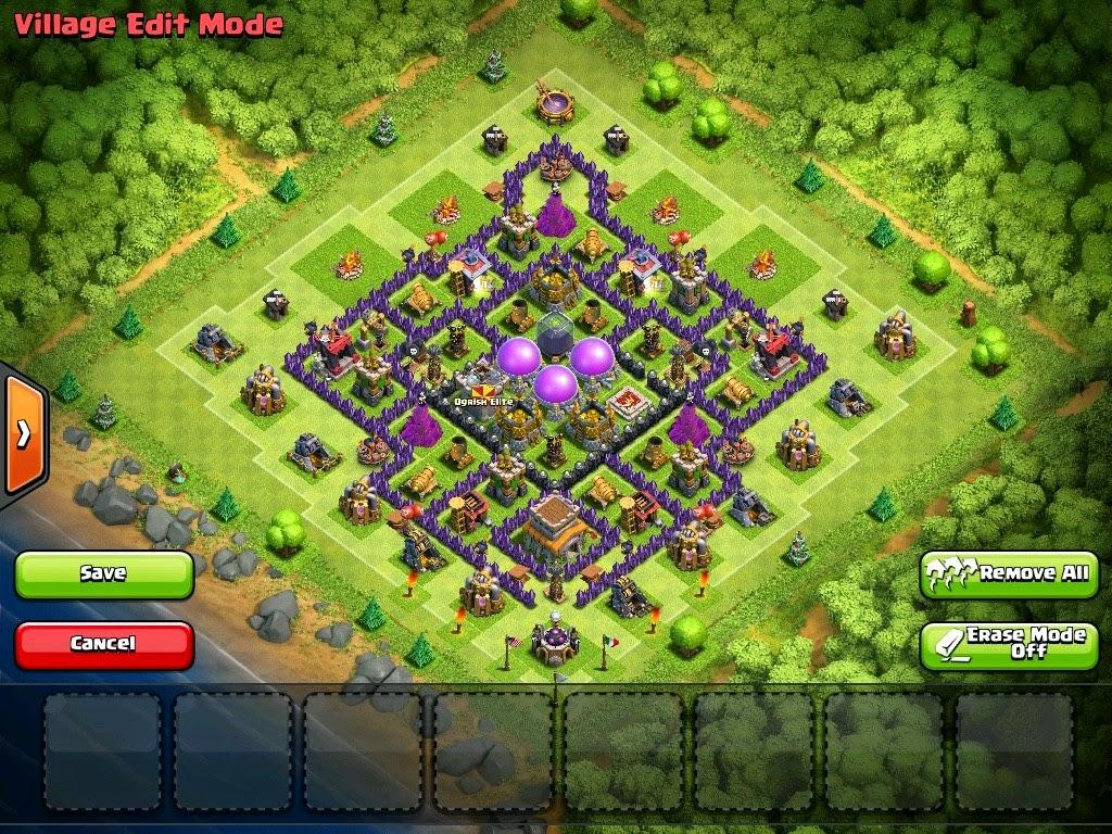 Town hall 8 farming base 4 mortars best design