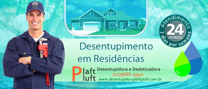 Desentupimento de Residencias em São Paulo 24 Horas - Desentupidora Plaft Pluft