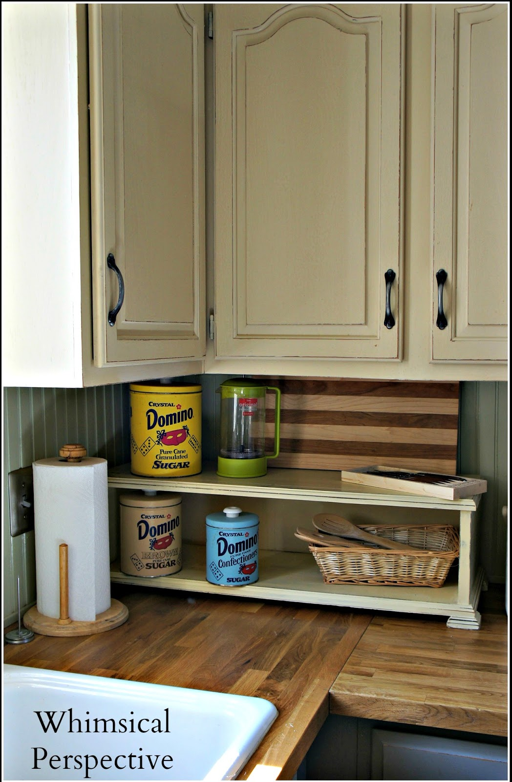 Chalk Paint On Kitchen Cabinets whimsical perspective: my chalk paint® kitchen cabinets  the update