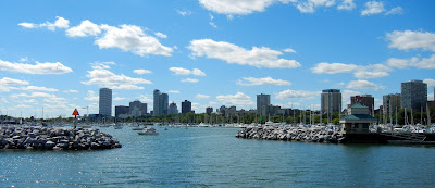 Views of downtown Milwaukee, Wisconsin from McKinley Marina