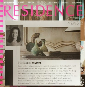 BELGIAN PEARLS FEATURED IN Magazine RESIDENCE 2015/5