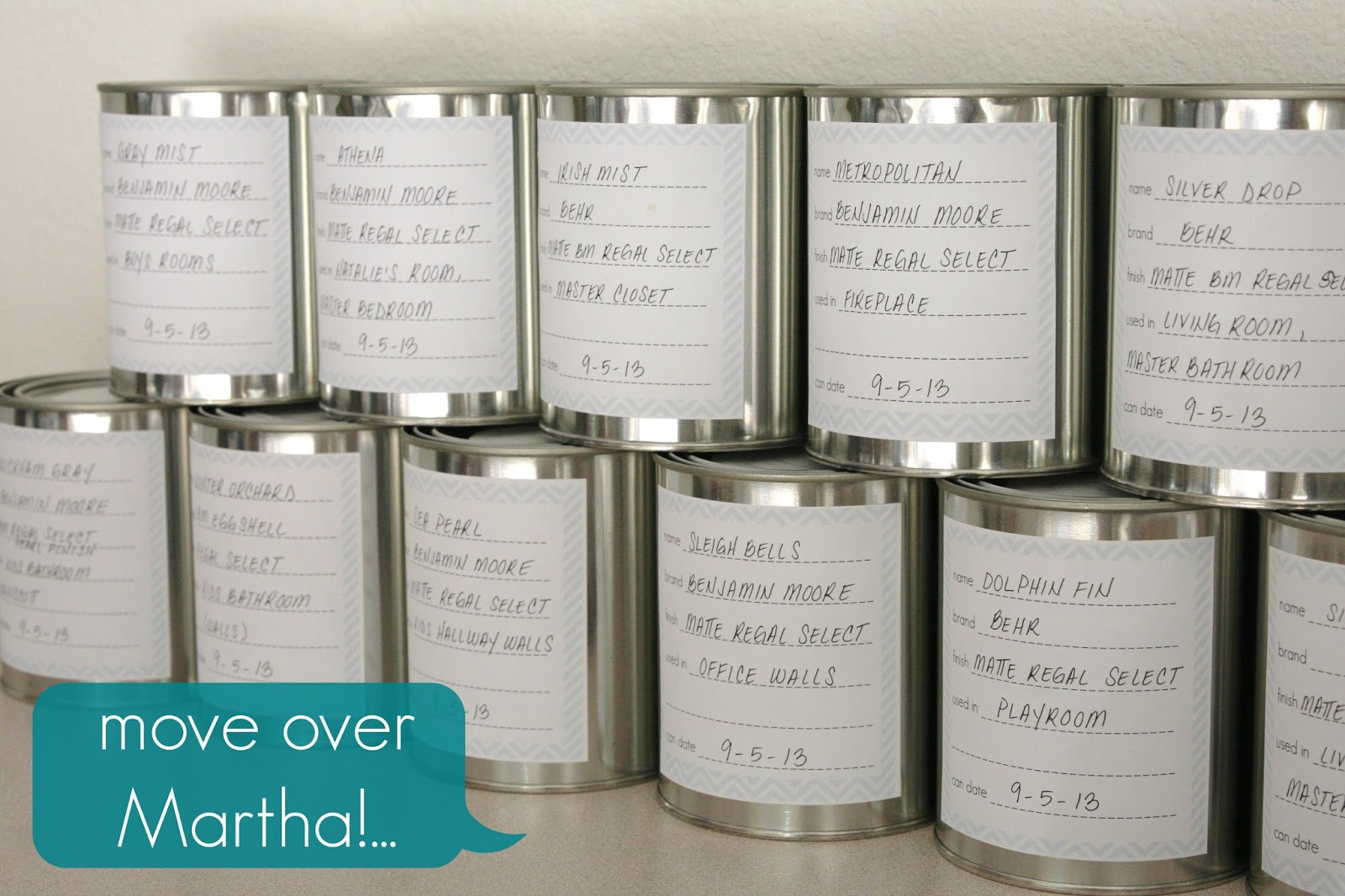 Move Over Martha Paint Cans