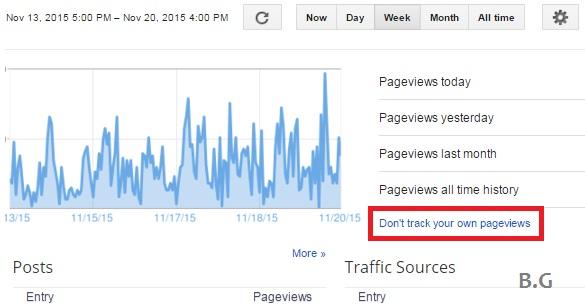cara mengatur track pageviews pada blog