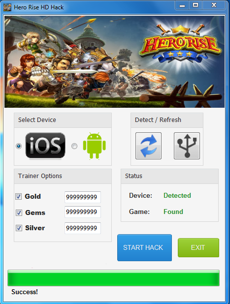 Hero Rise HD Hack & Cheat