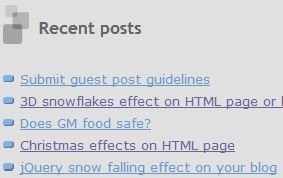 Learn how to display recent posts on your blogspot blog