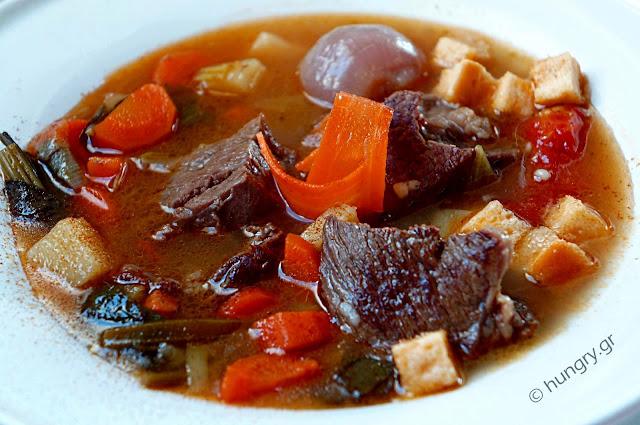 Βοδινό & Λαχανικά Σούπα