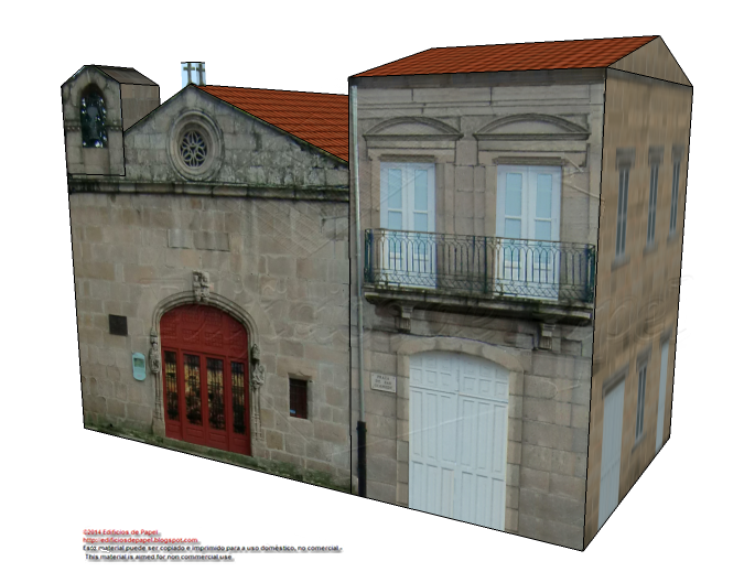 Building adjacent to Saints Cosmas & Damian Chapel in Ourense