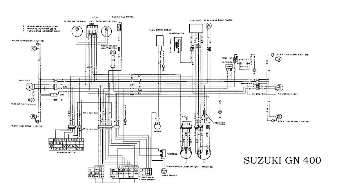 Suzuki    GN400 Electrical    Wiring       Diagram      All about    Wiring       Diagrams