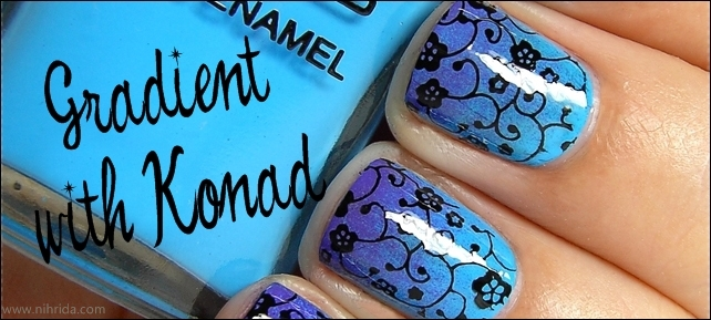 How To: Gradient Manicure (with Konad)