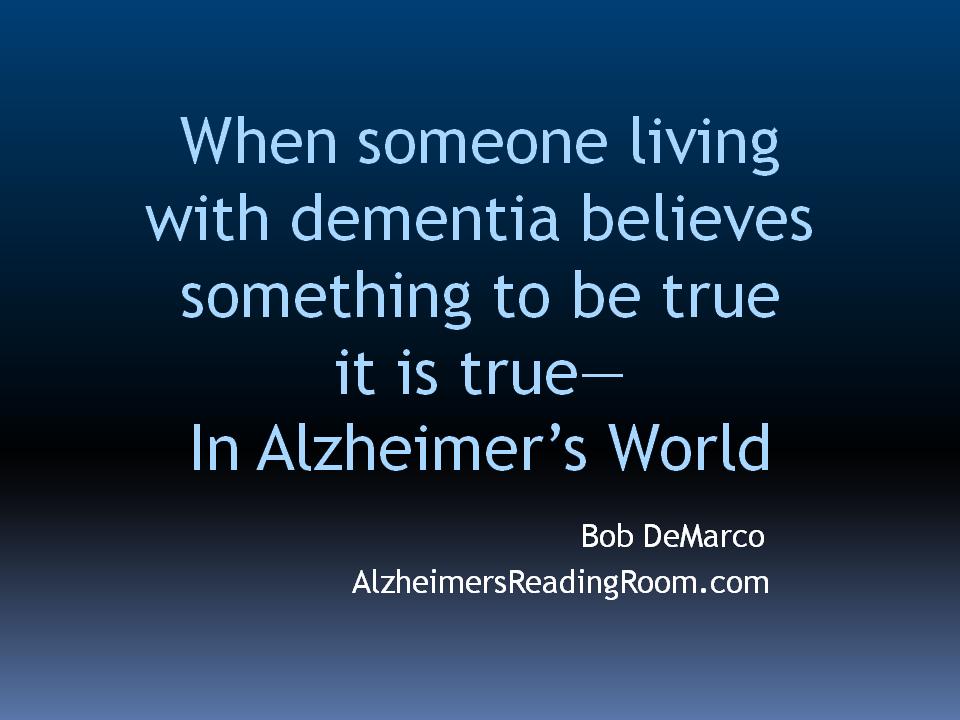 Alzheimer's Care Partner Quote