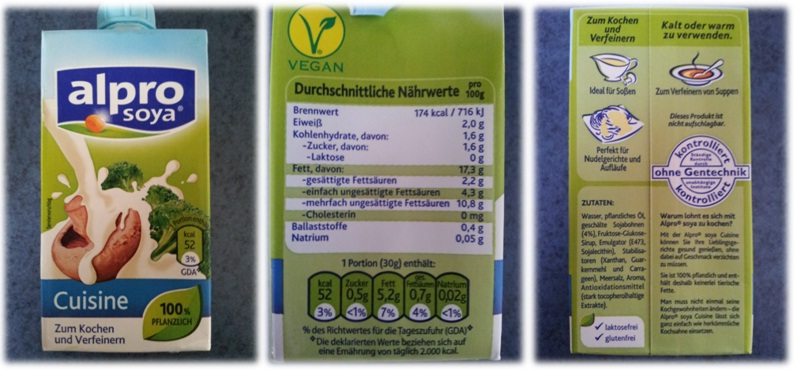 Produkttests by nepo muk nimm 39 s leicht mit alpro soja for Alpro soja cuisine