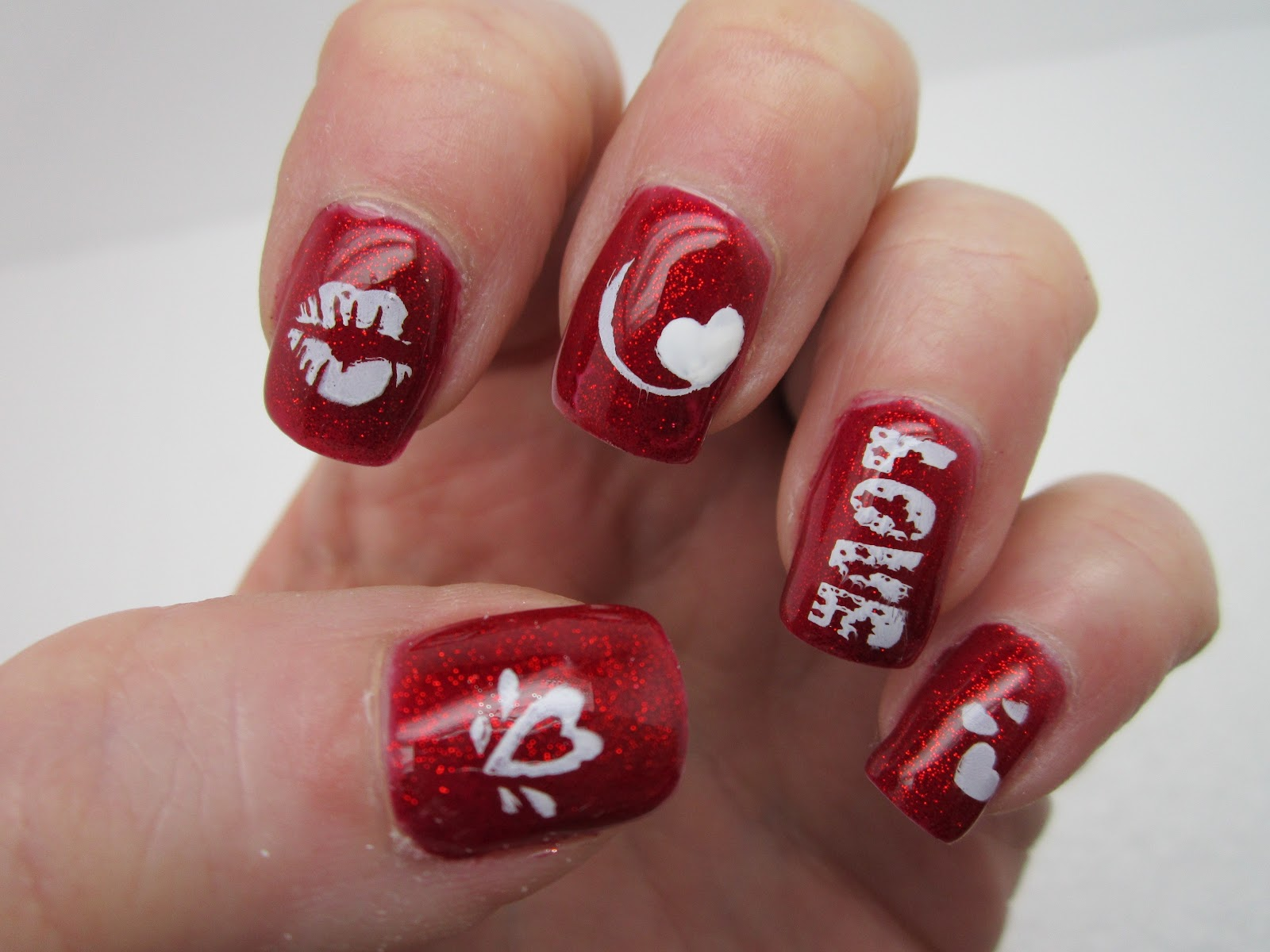 Nail art designs for valentines