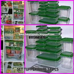 SET TUPPERWARE 17VPCS