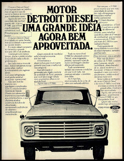 Ford F-7000 motor Detroit Diesel; Ford caminhões anos 70; brazilian advertising trucks in the 70. os anos 70. história da década de 70; Brazil in the 70s; propaganda carros anos 70; Oswaldo Hernandez;