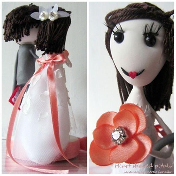 bride and groom custom cake topper