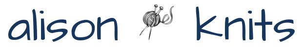 alison knits