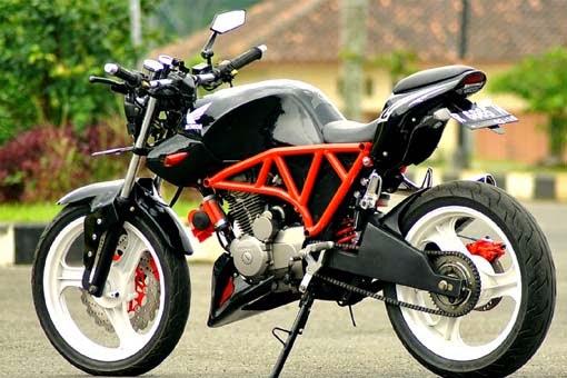modifikasi motor honda megapro ala street fighter