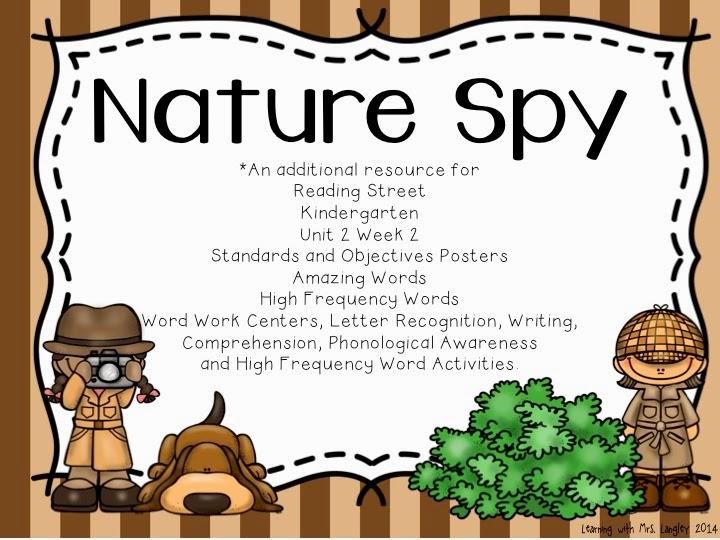 http://www.teacherspayteachers.com/Product/Nature-Spy-Kindergarten-Unit-2-Week-2-1321961