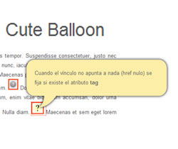 Cute Balloon : jQuery plugin for beautiful balloon tooltip