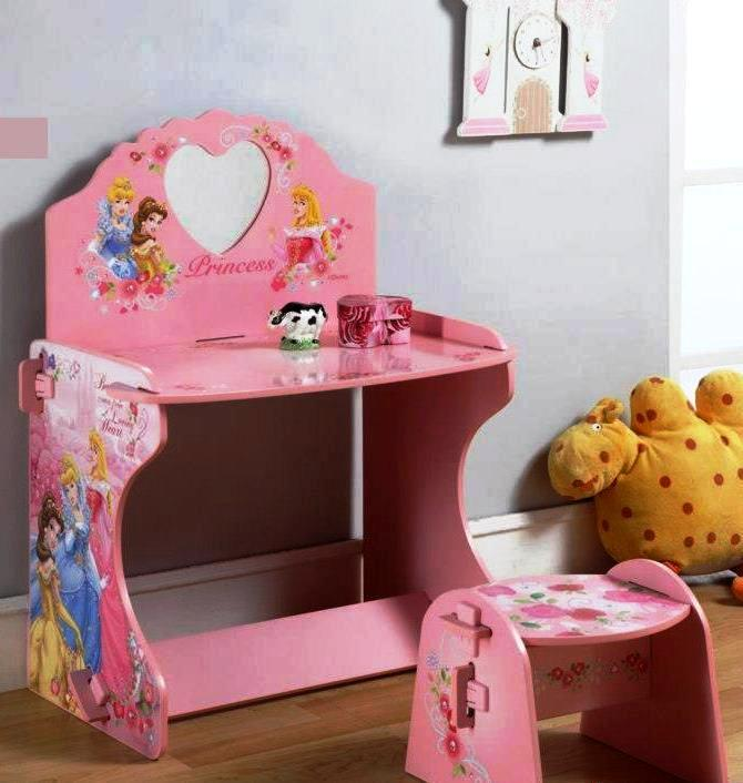 little-kiddo-store: CODE E - DISNEY PRINCESS WOODEN DRESSING TABLE SET