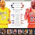 La comparativa gráfica entre Kobe Bryant y Michael Jordan.
