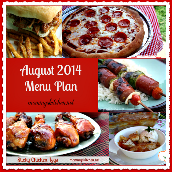 august menu - menu plan monthly
