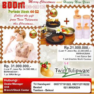 BOOM Tulipware | Nopember-Desember 2012