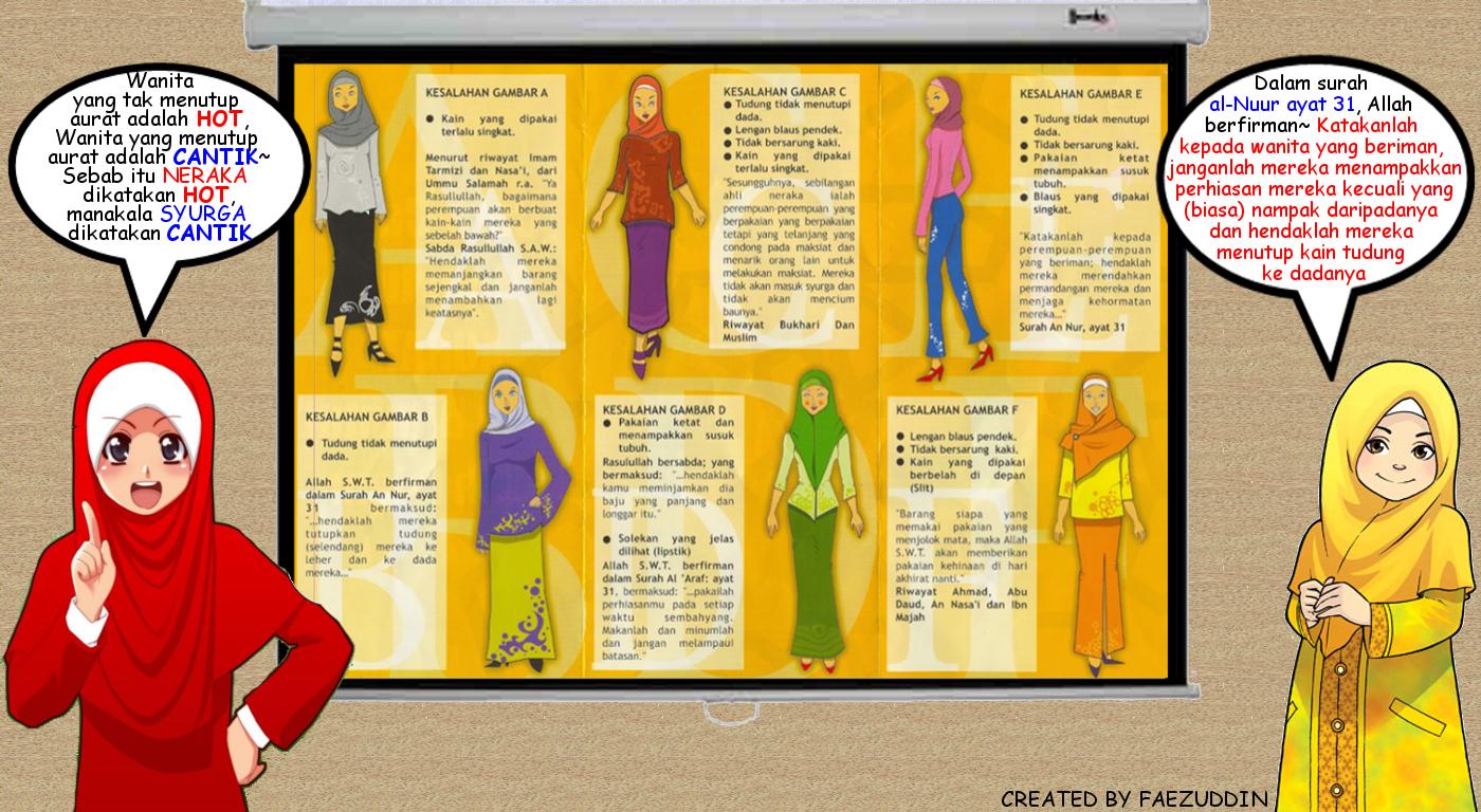 animasi wanita muslimah