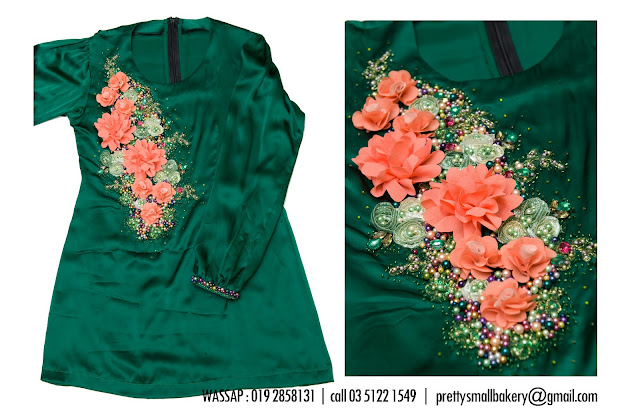 sneak preview! baju kurung satin kanak kanak with beads n lace