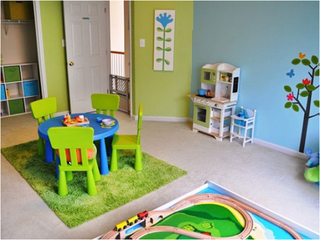 Kids Playroom Decorating Ideas Lifestyle Tweets The Back Room Is ...