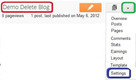 blogger blog setting