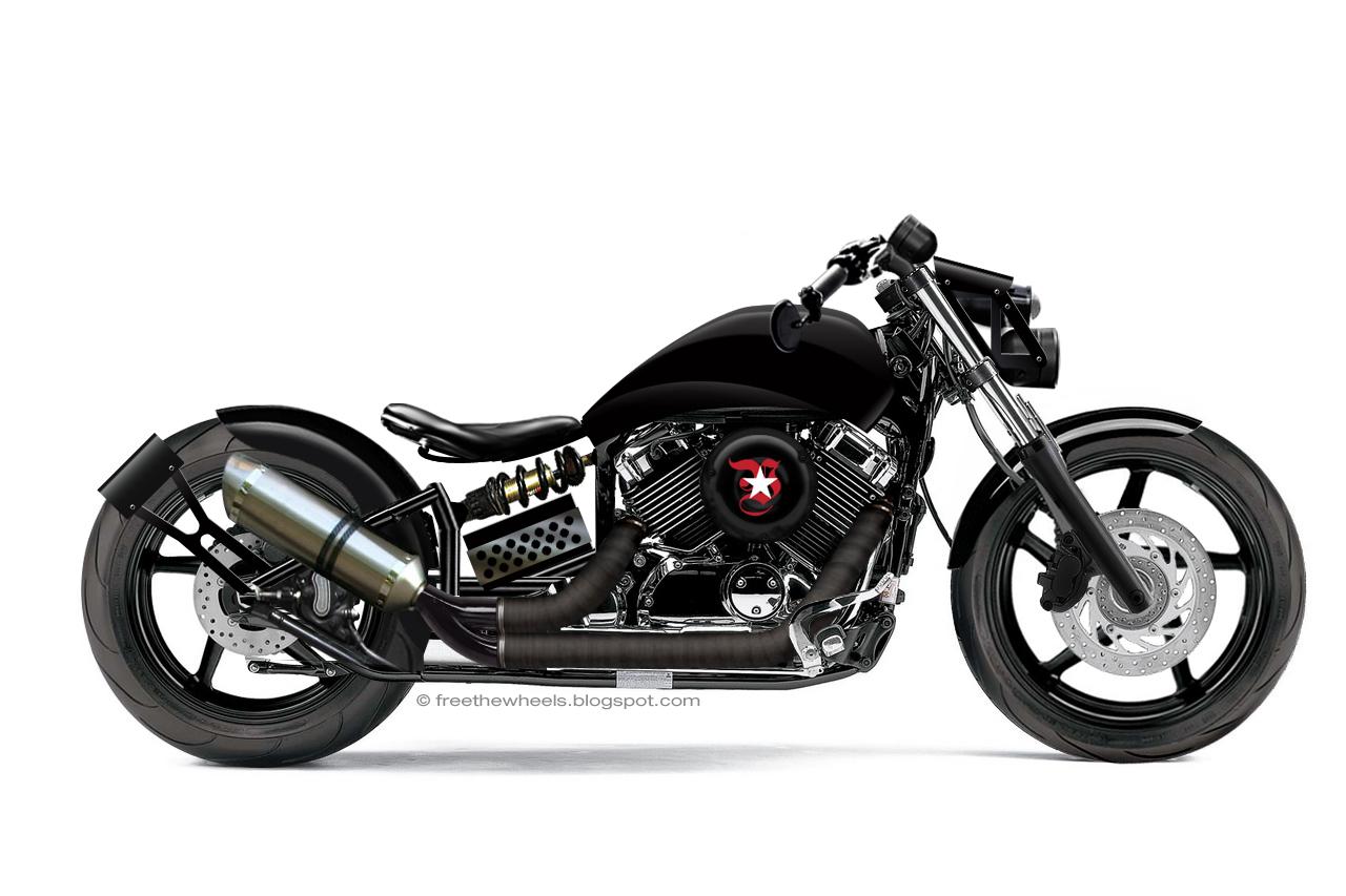 Free the wheels photoshop custom dragstar v star 650 for Yamaha vstar 650 parts
