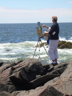 Artist on Monhegan