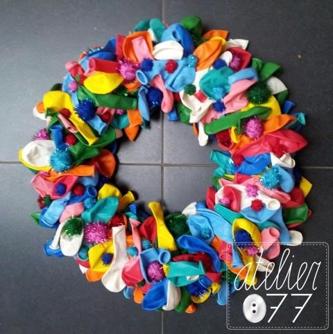 Atelier077 samen geknutseld voor vastelaovend of for Ballonnen decoratie zelf maken