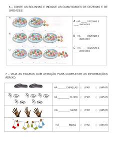 atividades com números pares e impares para o 1o ano