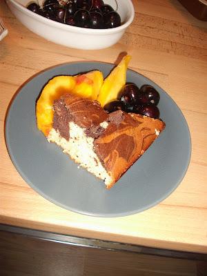 kek ve şeftali