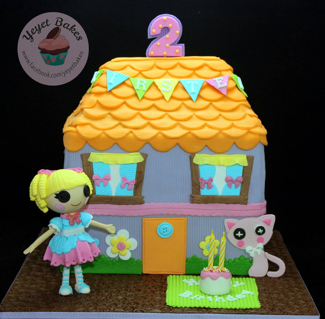 Lalaloopsy Cake Fondant Doll Topper Play house Sew Bunting